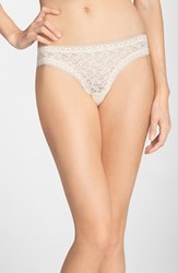 Women's Kensie 'Mattie' Lace Thong Barely There