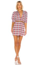 Frank And Eileen Mary Shirt Dress In Red. Multi