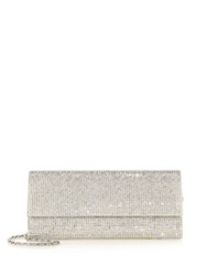 Judith Leiber Ritz Fizz Swarovski Crystal And Satin Clutch Champagne Jet