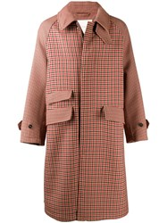 Mackintosh Ashkirk Shepherd Check Virgin Wool Oversized Overcoat Brown