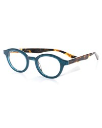 Eyebobs Tv Party Round Two Tone Readers Blue Tortoise Blue Brown Tort
