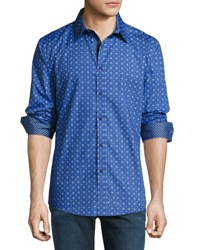 English Laundry Gear Print Sport Shirt Navy