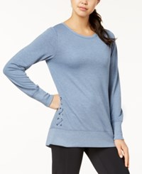 Ideology Lace Up Detail Top Created For Macy's Serene Blue