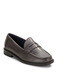 Cole Haan Leather Penny Loafers Grey