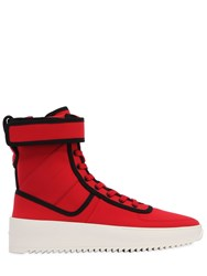 Fear Of God Military Nylon High Top Sneakers Infrared