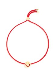 Ruifier 'Happy' 18K Yellow Gold Charm Cord Bracelet Metallic