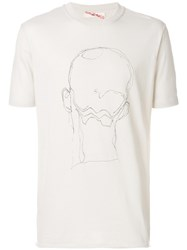 Damir Doma Face Graphic T Shirt Cotton Xl Nude Neutrals