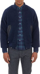 Shipley And Halmos Mullen Bomber Jacket Blue