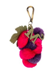 Mr And Mrs Italy Grapes Charm Keyring Pink