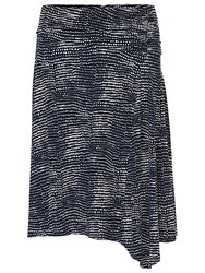 Betty Barclay Printed Skirt Dark Blue White