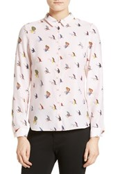 Ted Baker Women's London Fly Fish Print Silk Shirt