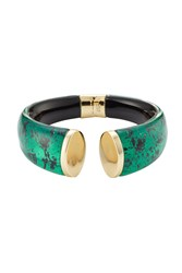 Alexis Bittar Gold Plated Cuff With Lucite Green