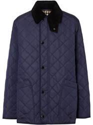 Burberry Diamond Quilted Thermoregulated Barn Jacket Blue