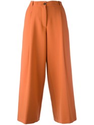 Maurizio Pecoraro Cropped Wide Leg Trousers Yellow Orange