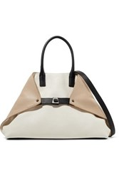 Akris Ai Small Textured Leather Shoulder Bag Ecru