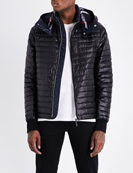 Burberry Down Filled Quilted Hooded Shell Jacket Black