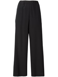 Aspesi Cropped Straight Trousers Black