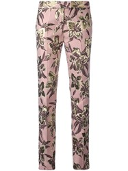 Christian Pellizzari Cigarette Trousers Pink Purple