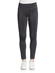 Saks Fifth Avenue Blue Herringbone Stretch Leggings