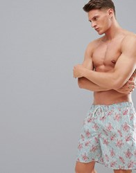 Selected Homme Printed Swim Shorts Dusty Blue