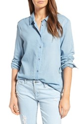 Ag Jeans Women's Nola Cotton Chambray Shirt Saltwater