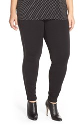 Plus Size Women's Michael Michael Kors Faux Leather Trim Leggings