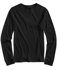 American Rag Men's Thermal Knit Raglan Sleeve T Shirt Created For Macy's Deep Black