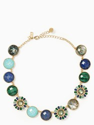 Kate Spade Peacock Way Necklace Blue Multi