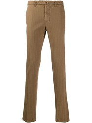 Dell'oglio Slim Fit Chinos Brown