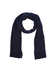 Hackett Oblong Scarves Dark Blue