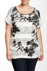 Vanilla Sugar Floral Silhouette Lace Front Tee Plus Size White