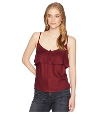 Roxy Building View Strappy Top Tawny Port Sleeveless Red