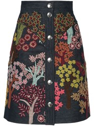 Giambattista Valli Floral Embroidered Skirt Multicolour