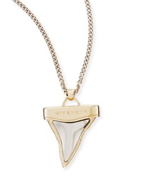 Golden And Gunmetal Doubled Shark Tooth Necklace 34' Givenchy Gold Silver