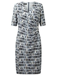 Gerry Weber Printed Jersey Dress Blue Beige