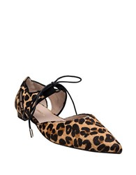 Andre Assous Maddie Point Toe Fur Flats Leopard