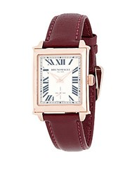 Bruno Magli Rose Goldtone Stainless Steel And Leather Strap Watch Pink
