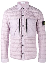 Stone Island Padded Jacket Pink Purple