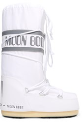 Moon Boot Pique Shell And Faux Leather Snow Boots White