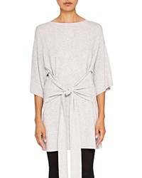 Ted Baker Says Relax Olympy Tie Front Knit Tunic Light Gray