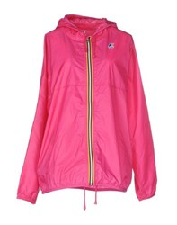 K Way Coats And Jackets Jackets Women Fuchsia