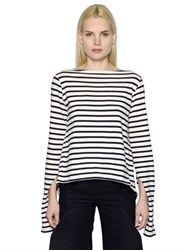 Jacquemus Open Back Striped Cotton Jersey Shirt