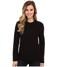 Hot Chillys Pepper Fleece Top Black Women's Long Sleeve Pullover