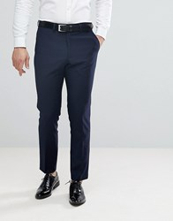 French Connection Slim Fit Tuxedo Trousers Navy