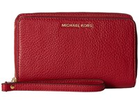 Michael Michael Kors Adele Large Flat Multifunction Phone Case Cherry Cell Phone Case Red