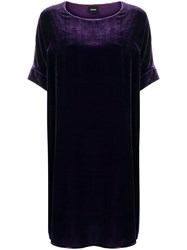 Aspesi Oversized Shift Dress Pink And Purple