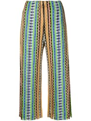Issey Miyake Pleats Please By Printed Pleat Trousers Women Polyester 1