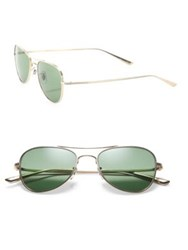 Oliver Peoples The Row The Row For Oliver Peoples Executive Suite 53Mm Titanium Aviator Sunglasses Gold Green
