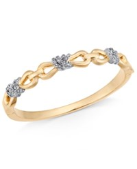 Charter Club Two Tone Crystal Infinity Knot Bangle Bracelet Created For Macy's Gold