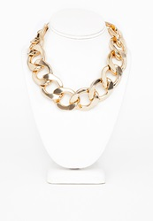 Missguided Madonna Chunky Statement Chain Necklace Gold